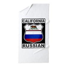 California Russian American Beach Towel