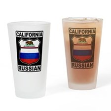 California Russian American Drinking Glass