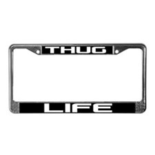 Thug Life License Plate Frame
