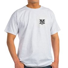 Molly: Fancy Monogram Ash Grey T-Shirt