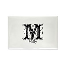 Molly: Fancy Monogram Rectangle Magnet (10 pack)