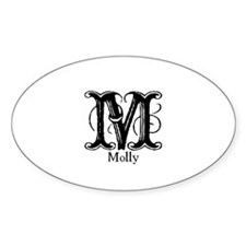Molly: Fancy Monogram Oval Decal