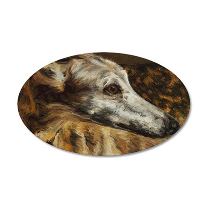 Greyhound 35x21 Oval Wall Decal
