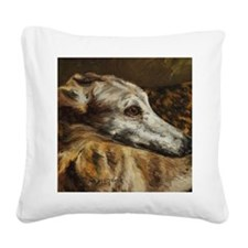 Greyhound Square Canvas Pillow