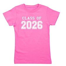 Class of 2026 (White) Girl's Tee
