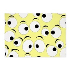 Funny Eyes 5'x7'Area Rug