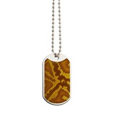 Golden Snake Dog Tags