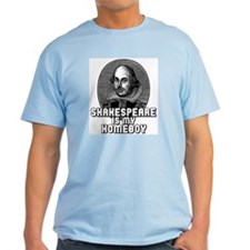 Shakespeare is my Homeboy Ash Grey T-Shirt