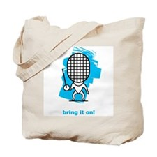 Moody little fencing epee character Tote Bag