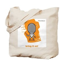 Moody little fencing foil character Tote Bag
