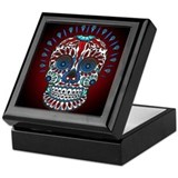 Decorative Mexican Skull Keepsake Box