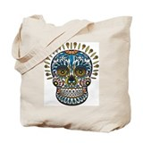 Decorative Mexican Skull Tote Bag