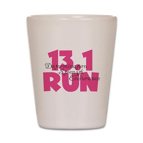 13.1 Run Pink Shot Glass