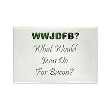 Jesus Bacon Rectangle Magnet