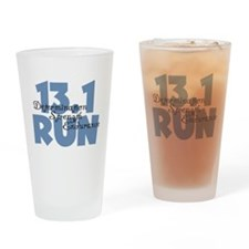 13.1 Run Blue Drinking Glass