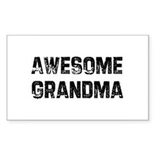 Awesome Grandma Rectangle Decal