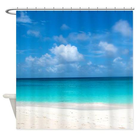 anguilla bathroom d cor tropical beach view anguilla shower curtain