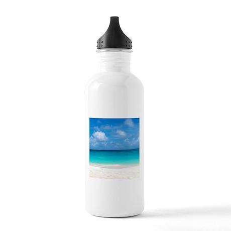 Tropical Beach View Cap Juluca Anguilla Water Bott