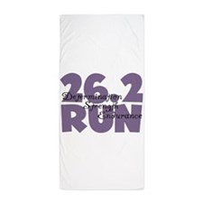 26.2 Run Purple Beach Towel
