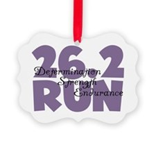 26.2 Run Purple Ornament