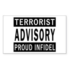 Terrorist Advisory Rectangle Decal