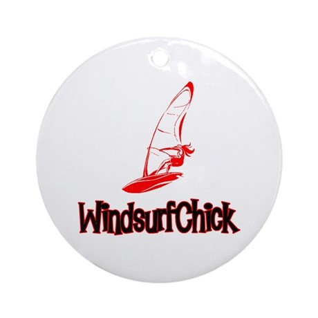 WindsurfChick Logo Ornament (Round)