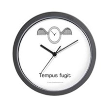 Tempus fugit (time flies) Wall Clock