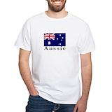 Mens australian flag tshirts Mens White T-shirts