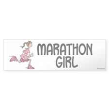 Marathon Girl Bumper Bumper Sticker