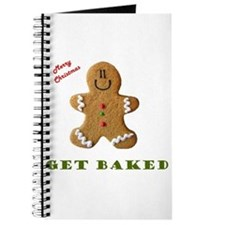 Get Baked Gingerbread Man Journal