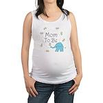 Mom to Be Maternity Elephant Maternity Tank Top