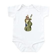 Sock Monkey Upright Bass Player Infant Bodysuit
