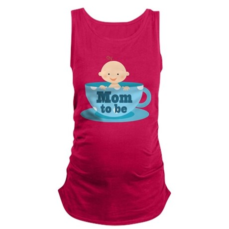Mom To Be Tea Cup Baby Maternity Tank Top