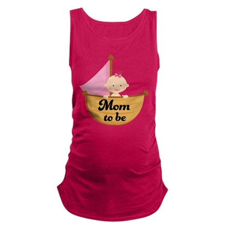 Mom to Be of Baby Girl Maternity Tank Top