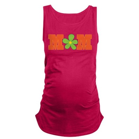 MOm green daisy.png Maternity Tank Top