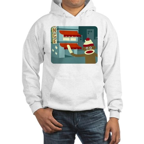 Sock Monkey Lounge Hooded Sweatshirt