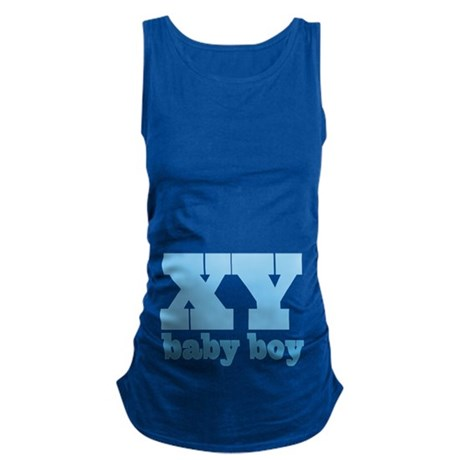 XY Chromosome Baby Boy Design Maternity Tank Top