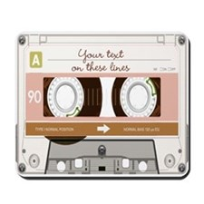 Cassette Tape - Tan Mousepad