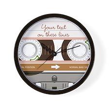 Cassette Tape - Tan Wall Clock