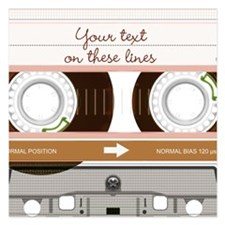 Cassette Tape - Tan Invitations