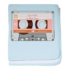 Cassette Tape - Tan baby blanket