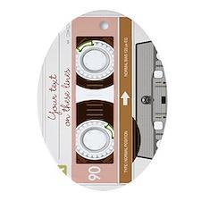 Cassette Tape - Tan Ornament (Oval)