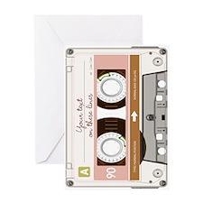 Cassette Tape - Tan Greeting Card