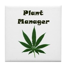 Plant Manager Tile Coaster