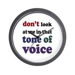 Tone of Voice Wall Clock