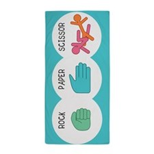 Rock Paper Scissor Beach Towel