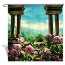 Neuschwanstein View Shower Curtain