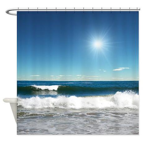 Beach Gifts > Beach Bathroom Décor > Ocean Waves Shower Curtain