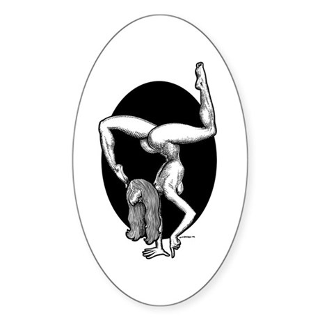Handstand Oval Sticker