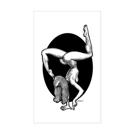 Handstand Rectangle Sticker